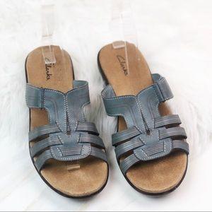Clark Leather Blue Sandals